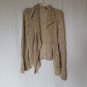 One girl who Anthro crochet bell sleeve cardigan